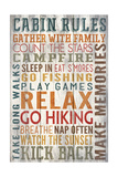 Cabin Rules Typography - Barnwood Painting Posters by  Lantern Press