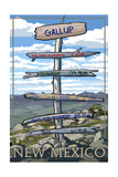 Gallup, New Mexico - Destination Signpost Prints by  Lantern Press