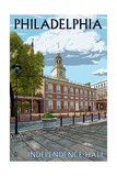 Philadelphia, PA - Independence Hall Posters by  Lantern Press