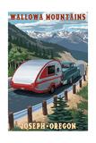Wallowa Mountains - Joseph, Oregon - Retro Camper Posters by  Lantern Press