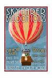 Hot Air Balloon Tours - Vintage Sign Prints by  Lantern Press