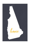 New Hampshire - Home State - Gray Poster by  Lantern Press