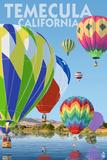 Temecula, California - Hot Air Balloons Poster by  Lantern Press