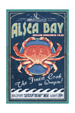 Alsea Bay, Oregon - Dungeness Crab Vintage Sign Prints by  Lantern Press