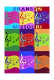 Branson, Missouri - Music Notes Pop Art Prints by  Lantern Press