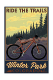 Winter Park, Colorado - Mountain Bike Scene Posters by  Lantern Press