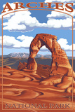 Arches National Park, Utah - Delicate Arch - Day Scene Prints by  Lantern Press