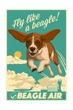 Beagle - Retro Aviation Ad Plakaty autor Lantern Press