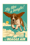 Beagle - Retro Aviation Ad Posters by  Lantern Press