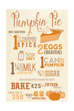 Pumpkin Pie Recipe Prints by  Lantern Press