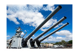 USS Missouri - Guns View Posters by  Lantern Press