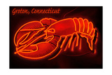 Groton, Connecticut - Lobster Neon Sign Prints by  Lantern Press