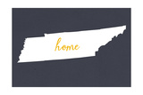Tennessee - Home State - Gray Prints by  Lantern Press