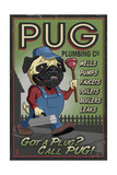 Pug - Retro Plumbing Ad Prints by  Lantern Press