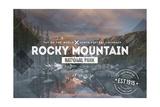 Rocky Mountain National Park - Rubber Stamp Print by  Lantern Press