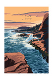 Acadia National Park, Maine - Mount Desert Island Art by  Lantern Press