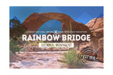 Rainbow Bridge National Monument, New Mexico - Rubber Stamp Print by  Lantern Press