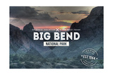 Big Bend National Park, Texas - Rubber Stamp Posters by  Lantern Press