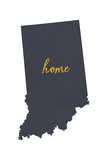Indiana - Home State - White Posters by  Lantern Press