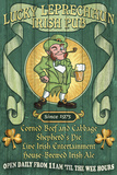 Leprechaun Irish Pub - Vintage Sign Art by  Lantern Press