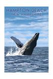 Hampton Beach, New Hampshire - Humback Whale Prints by  Lantern Press