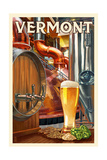 Bridges of Vermont - the Art of Beer Prints by  Lantern Press