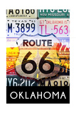 Oklahoma - Route 66 License Plates Print by  Lantern Press
