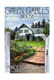 Prince Edward Island - Green Gables House and Gardens Prints by  Lantern Press