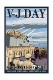 USS Missouri - V-J Day Scene Posters by  Lantern Press