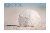 Groton, Connecticut - Sand Dollar and Beach Print by  Lantern Press