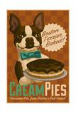 Boston Terrier - Retro Cream Pie Ad Posters by  Lantern Press