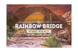 Rainbow Bridge National Monument, New Mexico - Rubber Stamp Sunset Prints by  Lantern Press