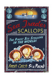Scallops - Vintage Sign Prints by  Lantern Press