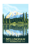 Bellingham, Washington - Mount Shuksan Prints by  Lantern Press