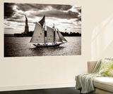 The Clipper and the Liberty Wall Mural by John Brooknam