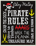 Pirate Rules Wood Sign