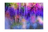 Spring Purple Flowers Wisteria.Watercolor Painting Posters by  Nongkran_ch