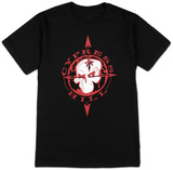 Cypress Hill- Warped Red Skull & Compass T-shirts