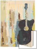 Bluebird Cafe II Wood Print by Deann Hebert