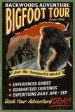Bigfoot Tours - Vintage Sign Art by  Lantern Press