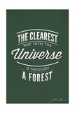 John Muir - the Clearest Way Posters by  Lantern Press