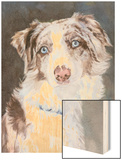 Bogan Australian Shepherd Wood Print by Edie Fagan