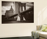 The Sailboat and the Bridge Wall Mural by John Brooknam