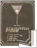 Chalkboard Cocktails II Wood Print by Grace Popp
