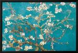 Ramas de almendros en flor, Saint Rémy, c.1890 Pósters por Vincent van Gogh