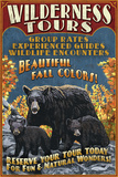 Black Bear Family - Vintage Sign Posters by  Lantern Press