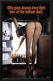 Sexy Girl Bending Over Beer On the Bottom Shelf Print