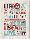 Life is Art Typography Wood Sign