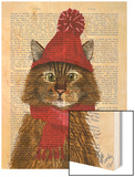 Maine Coon Cat Wood Print by  Fab Funky