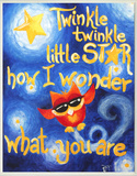 Twinkle Twinkle Little Star Wood Sign